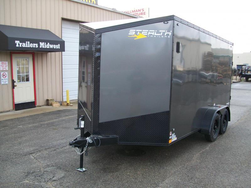 2019 Stealth Titan 7X14 7K GVWR Blackout Cargo Trailer