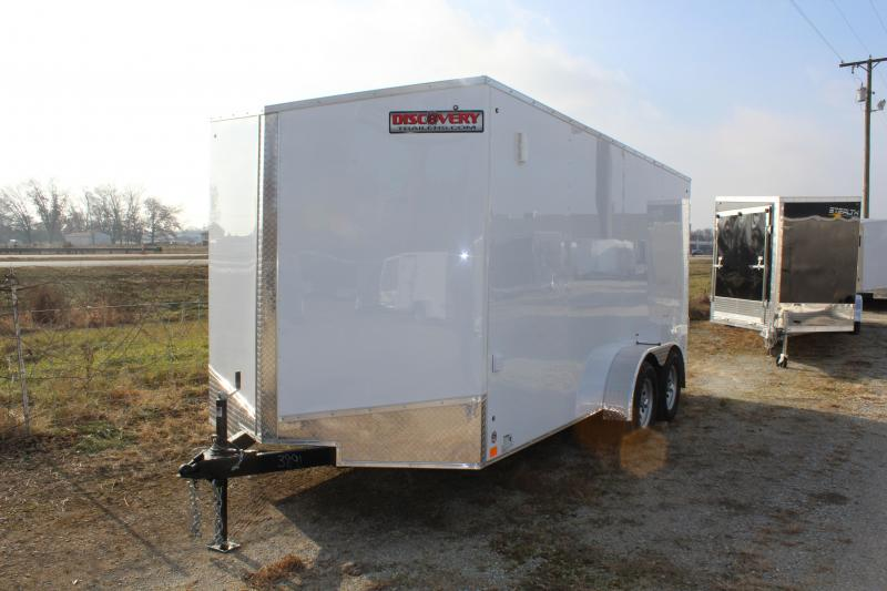 2019 Discovery Rover ET 7X16 7K GVWR Enclosed Cargo Trailer