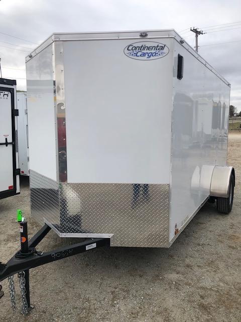 2020 Continental Cargo V-Series 6X12 Single Axle Cargo Trailer