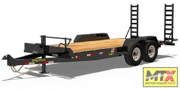 2020 Big Tex 18' 14ET 14K Equipment Trailer w/ Fold Up Ramps