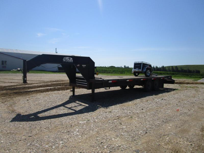 2005 Route 2 25' GN Flatbed Trailer