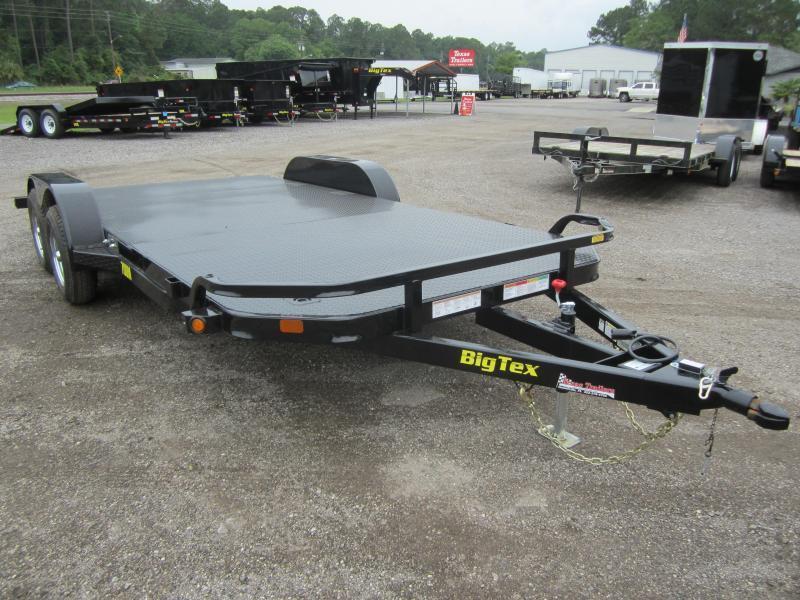 70DM-18 BIG TEX 18' STEEL DECK CAR HAULER W/ BRAKES ON BOTH AXLES