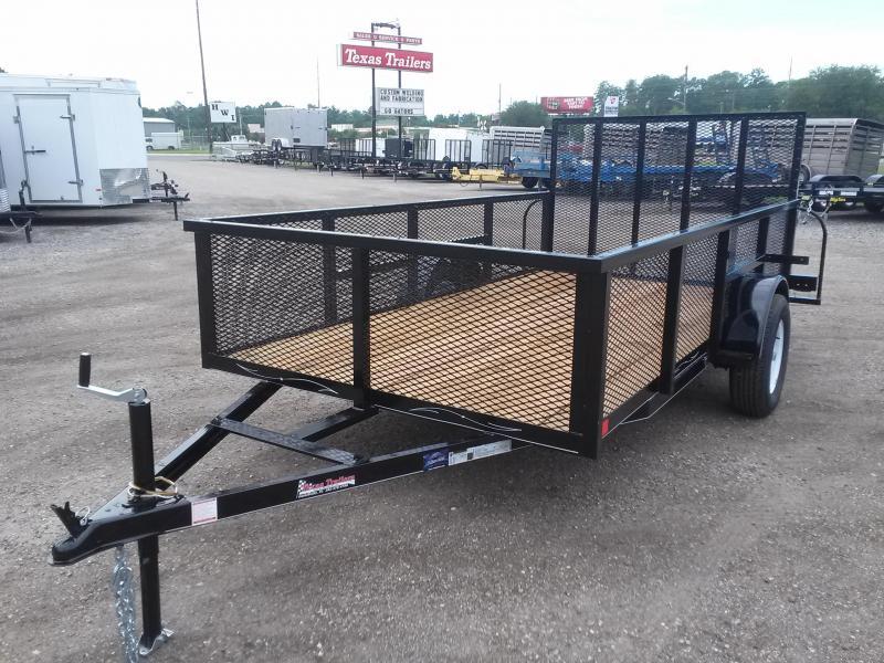 Lm61235 texas trailers 6x12 lawn maintenance trailer for Garden maintenance trailer