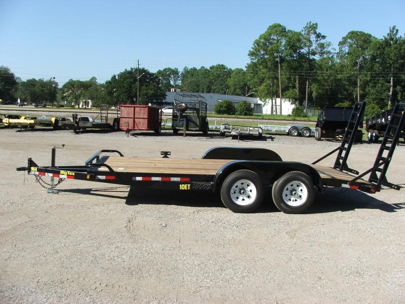 10et 20bk Big Tex 20 Tandem Axle Equipment Trailer