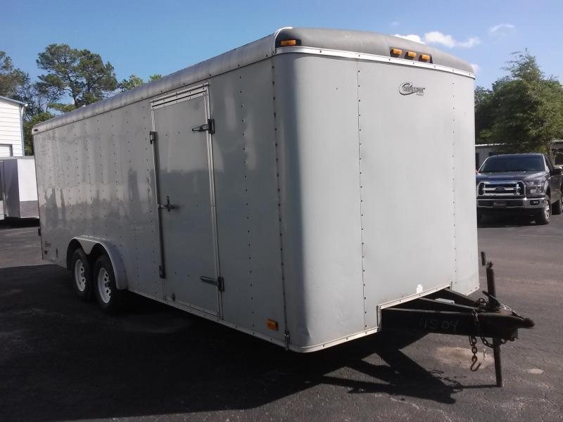2000 AVENGER 8X20 ENCLOSED CARGO TRAILER W/ DOUBLE REAR DOORS AND (4) NEW TIRES