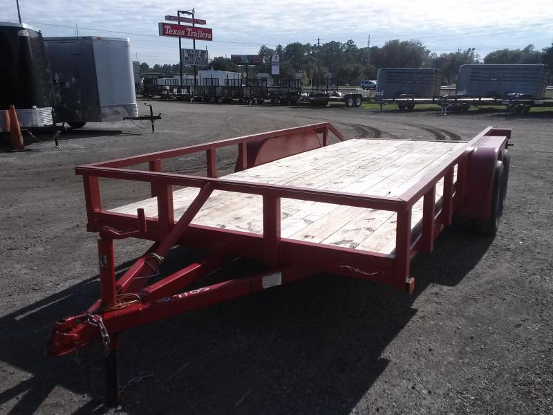 2015 TOP LINE 16' CAR HAULER W/ SLIDE UNDER RAMPS AND (4) NEW TIRES