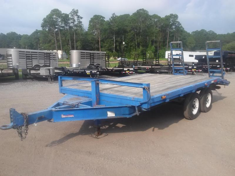 1996 MSI 16' EQUIPMENT TRAILER W/ 5200# AXLES
