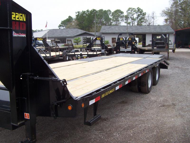 22GN-20BK5CP GOOSENECK DUAL TANDEM FLAT BED W/ CENTER POP UP AND 5' FOLD UP RAMPS