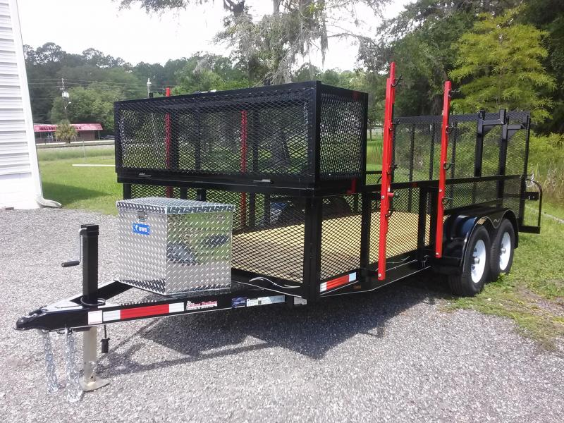 lm61610 texas trailers 6 39 4 x16 39 lawn maintenance trailer w