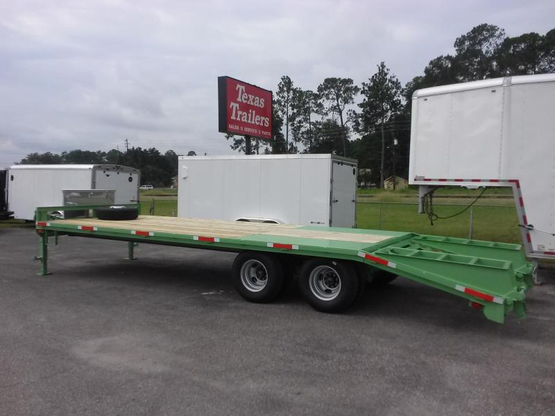 Texas Trailers 25 Bumper Pull 20000 Deckover Flatbed W