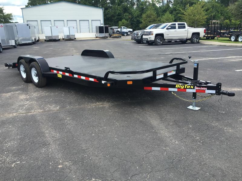 10dm 20 Big Tex 20 Steel Deck Car Hauler W Stabilizer