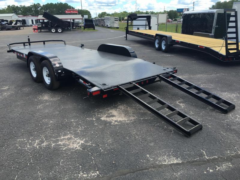 10dm 20 Big Tex 20 Steel Deck Car Hauler W Stabilizer