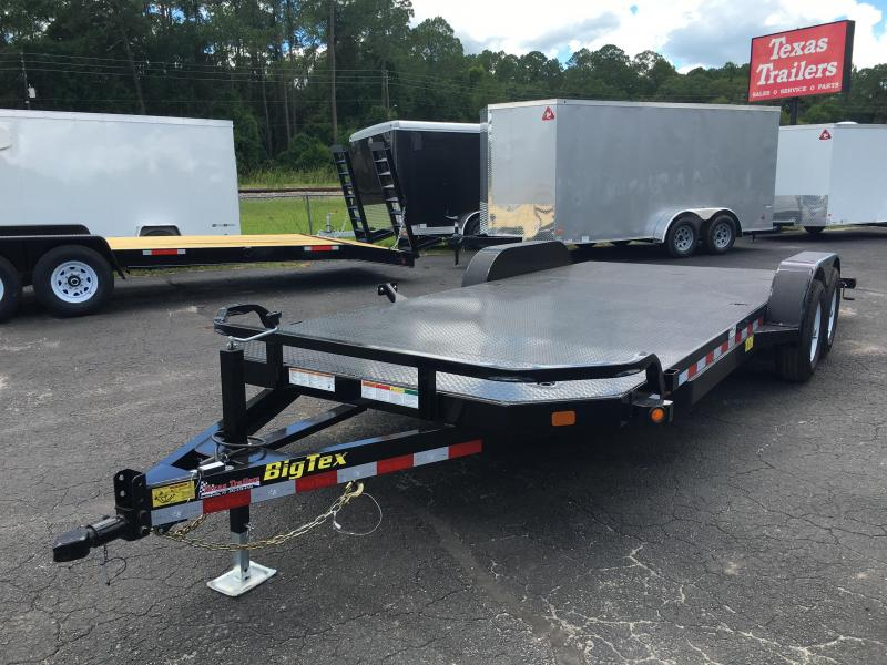 10DM-20 BIG TEX 20' STEEL DECK CAR HAULER W/ BRAKES ON BOTH AXLES
