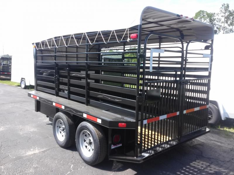 Truck Beds For Sale >> ST1270B TEXAS TRAILERS 12' BUMPER PULL STOCK TRAILER W/ FULL WALK OUT ESCAPE DOOR AND CUT GATE ...