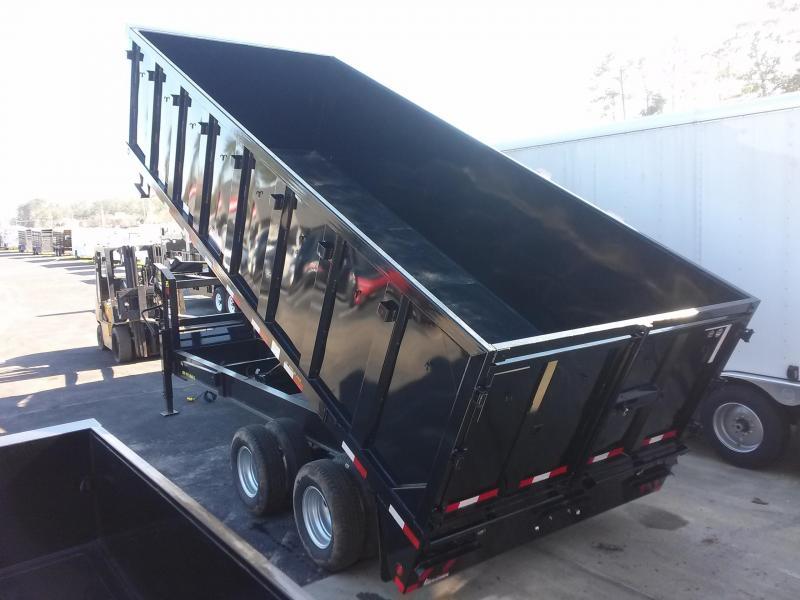 25du 20 Big Tex 20 Dual Tandem Gooseneck Dump Trailer W