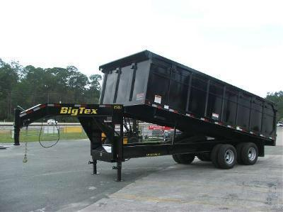 25DU-20BK8SIR 20' GOOSENECK DUAL TANDEM AXLE DUMP TRAILER W/4' SIDES AND SLIDE IN RAMPS