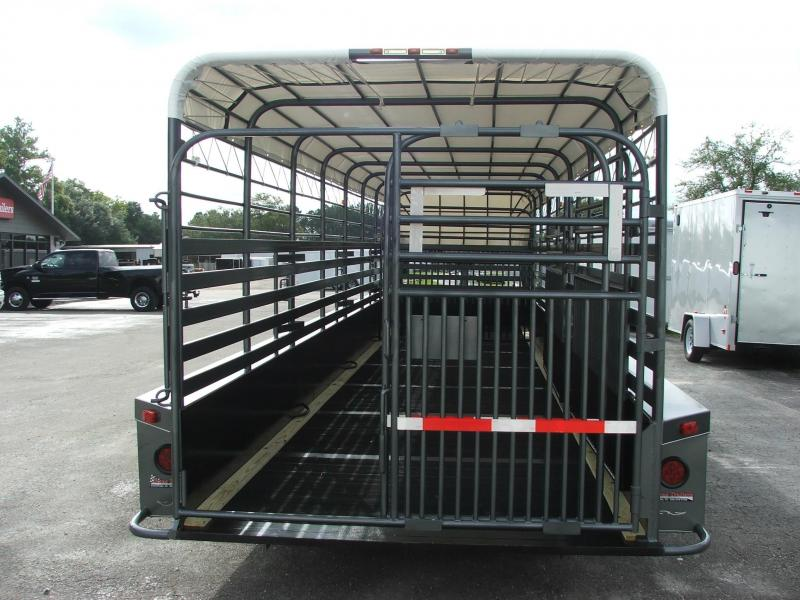 St3221g Texas Trailers 32 Gooseneck Stock Trailer W
