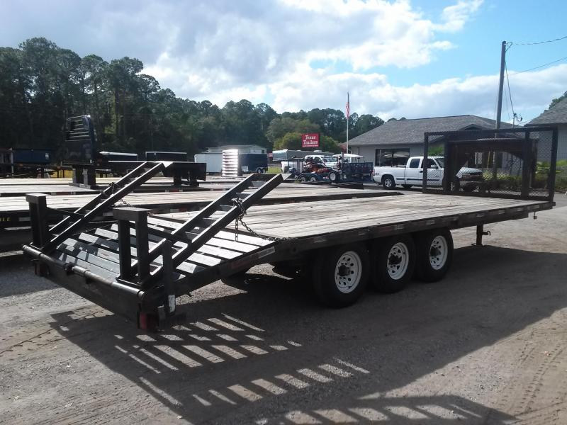 2007 LOUDO 24' TRIPLE AXLE FLATBED W/ SPARE & STAND UP RAMPS