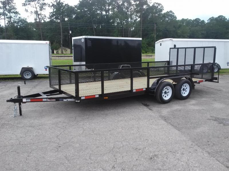 Lm61870 texas trailers 6 39 10 x18 lawn maintenance trailer w for Garden maintenance trailer