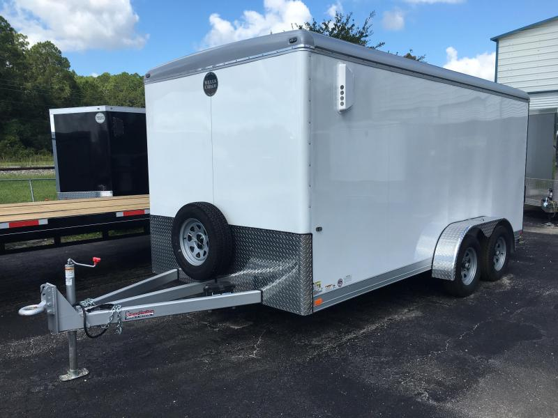 CW1622-102 WELLS CARGO 7X16 CARGO WAGON ENCLOSED CARGO TRAILER W/ WOLMANIZED PLYWOOD