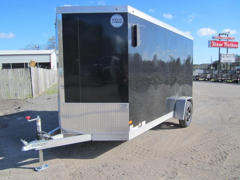 WELLS CARGO WAUV 6X12 ALUMINUM ENCLOSED TRAILER W/ EXTRA HEIGHT AND (4) D-RING TIE DOWNS