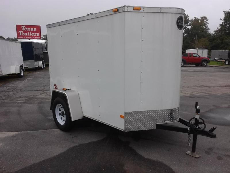 FT581 ENCLOSED 5X8 CARGO TRAILER W/ REAR RAMP DOOR