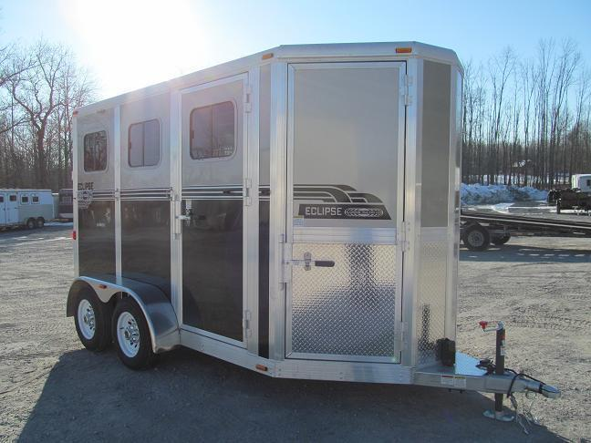 Eclipse Aluminum Trailers EURO 2 Horse w/ Dressing Room Horse Trailer