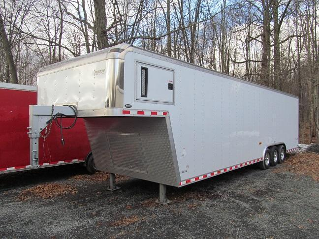 2007 Pace American 28 GN Enclosed Car Trailer