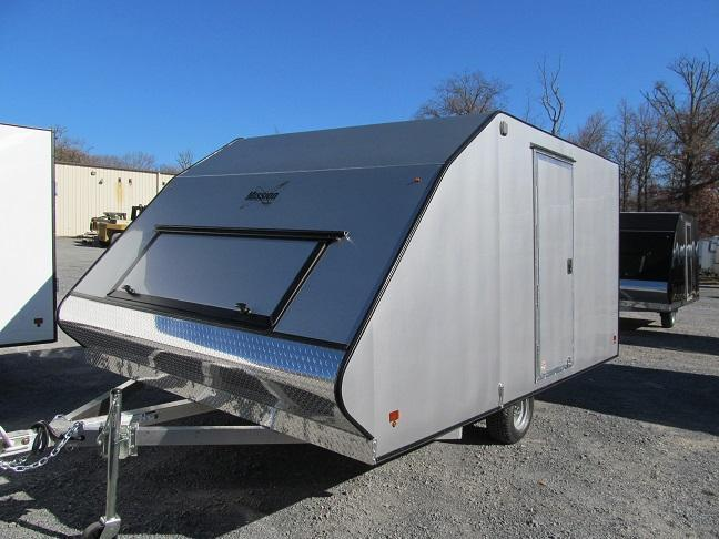 2016 Mission 2 Place Crossover w/ Side Door Snowmobile Trailer