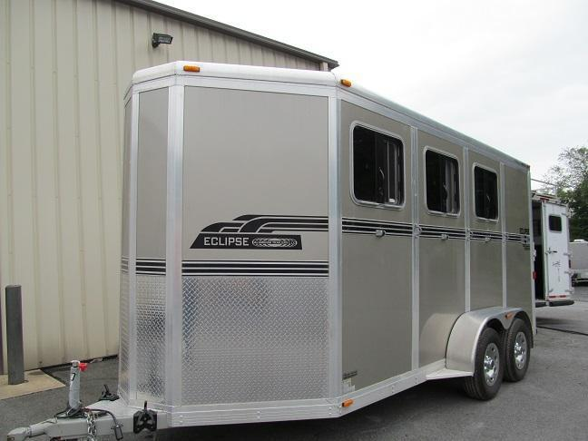 2015 Eclipse 3H SL SM EXT Horse Trailer
