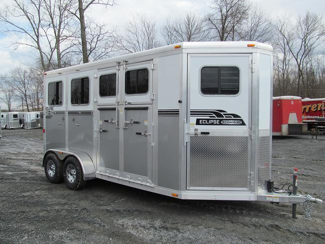 Eclipse Aluminum Trailers 2 Horse w/ 5 Side Ramp and DR (2H-ST-SR-DR) Horse Trailer