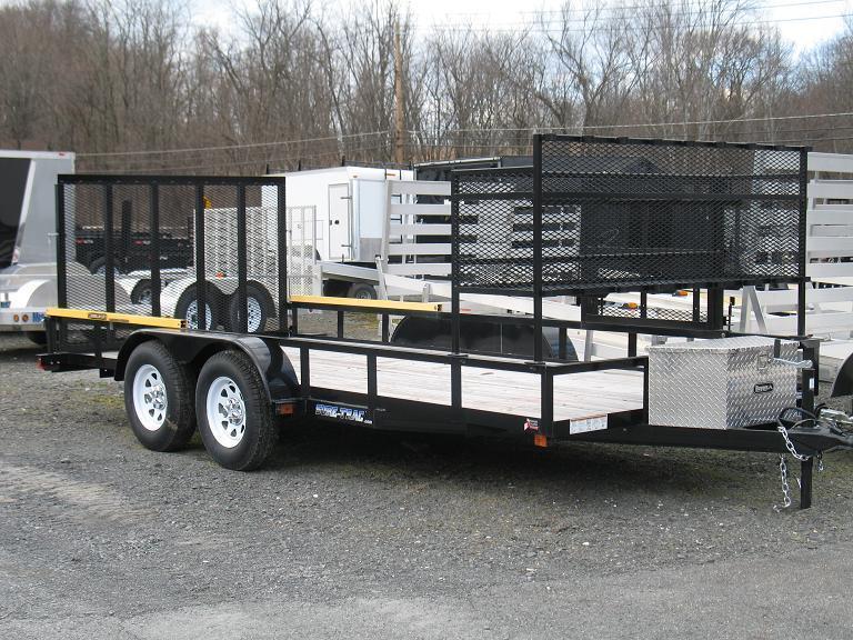 Sure trac open trailer landscape options utility trailer for Garden design trailer