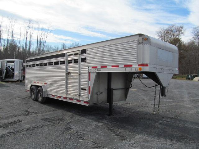 1992 Eby Trailers 7.5 X 20 GN Stock Livestock Trailer