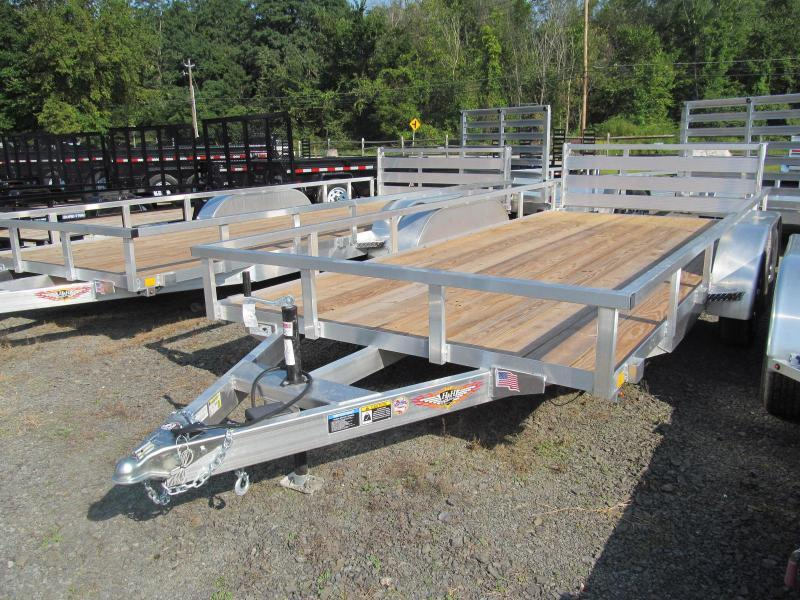 2019 H and H 7 x 18 Aluminum Double Axle Utility Trailer