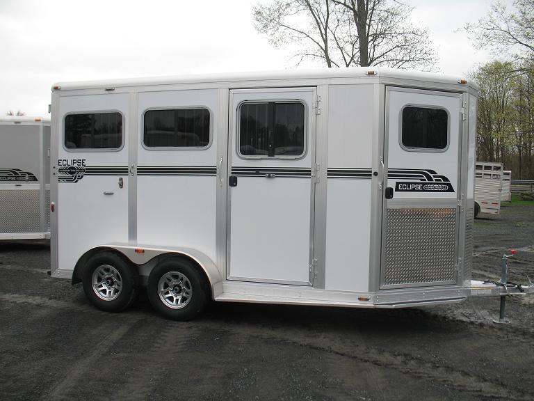 Eclipse Aluminum Trailers 2 Horse Deluxe w/ Dressing Room (2H ST DR DLX) Horse Trailer