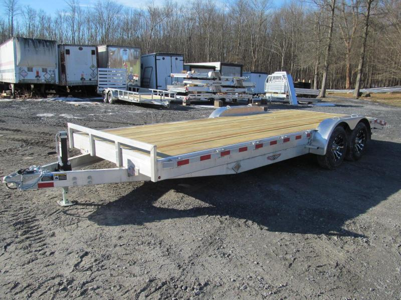 2019 H and H Trailer Aluminum Flatbed 18 Ft 7K Equipment Trailer