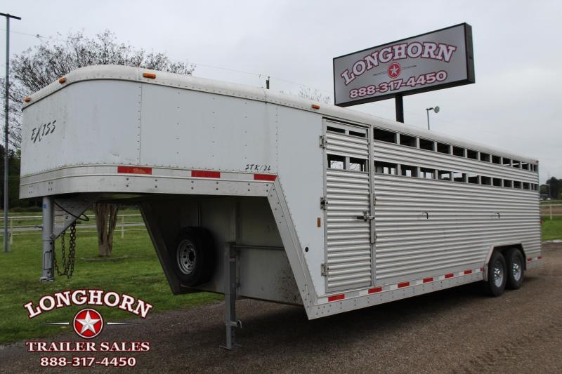 2009 Exiss Trailers 24ft x 8ft Show Cattle Stock Trailer Livestock Trailer