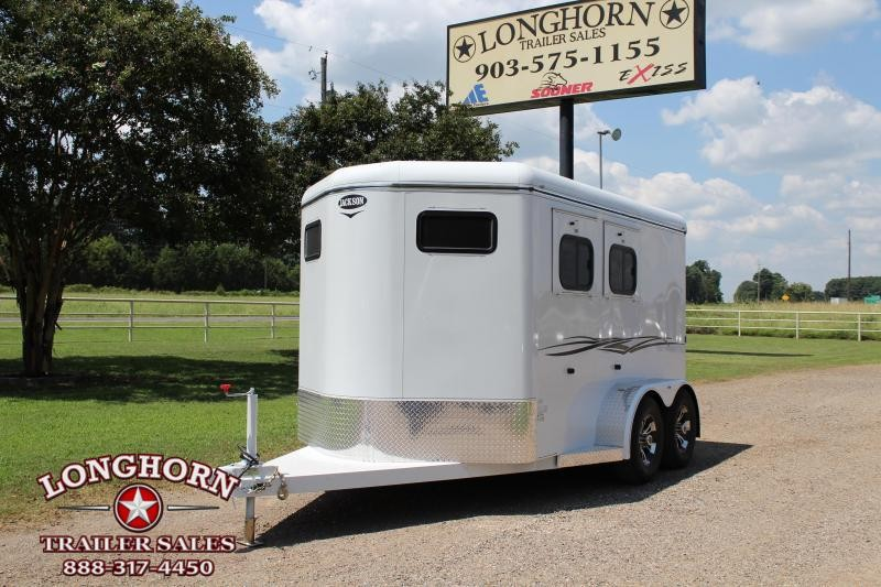 2019 Jackson 2 Horse Bumper Pull with Front and Rear Tack Room Horse Trailer