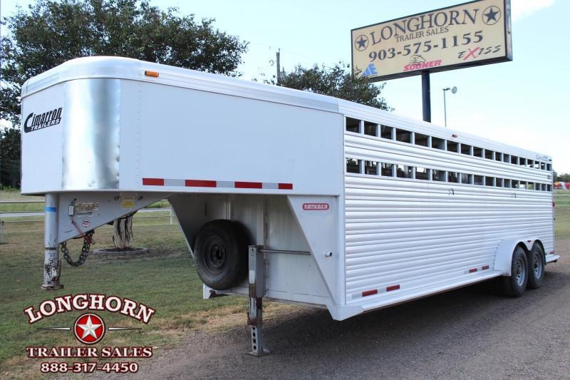 2005 Cimarron 24ft Stock Trailer with Two Cut Gates