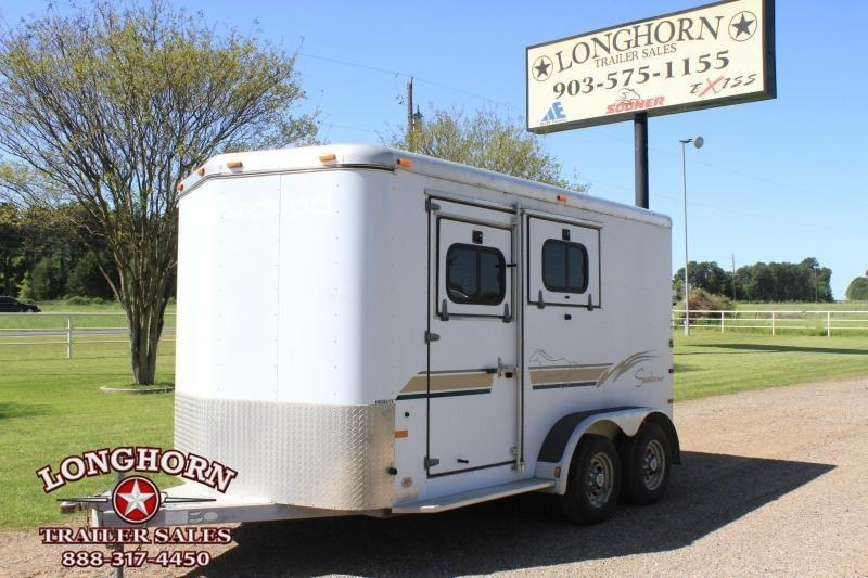 2000 Sundowner Trailers 2 Horse Slant Load Horse Trailer