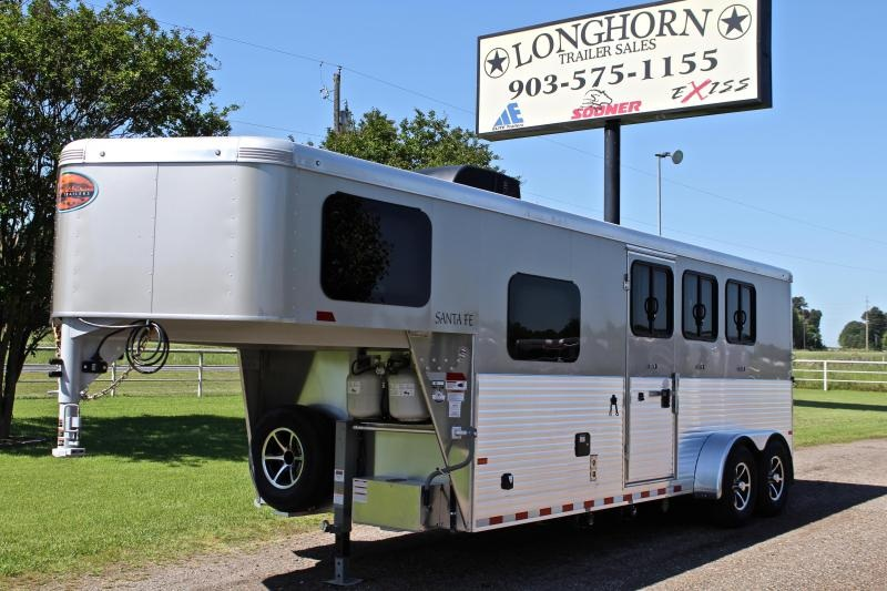 2019 Sundowner Trailers 3 Horse 6ft Living Quarter Horse Trailer