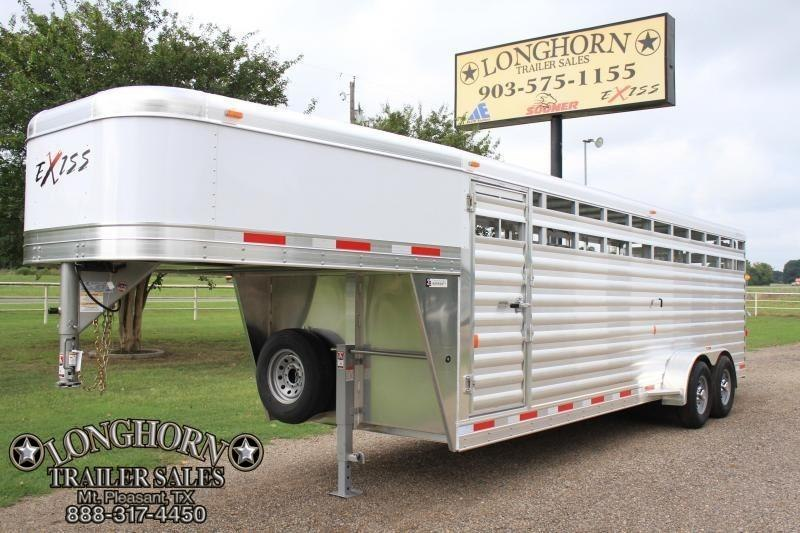 2019 Exiss 24ft Gooseneck Stock Trailer