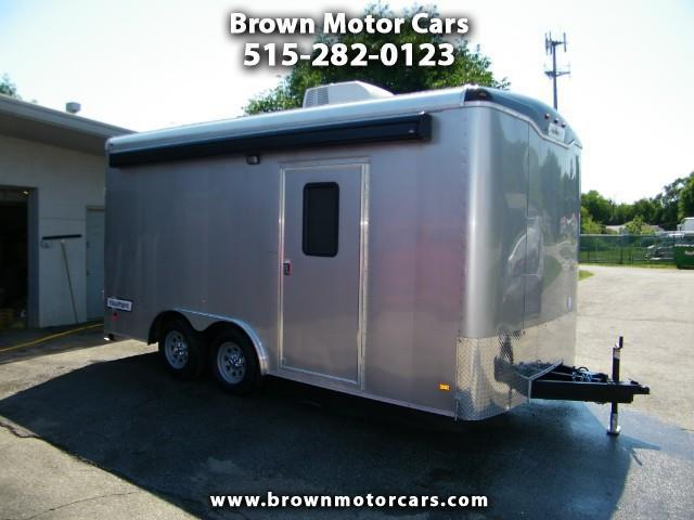 2018 Haulmark Grizzly 8.5x16 w/Air Conditioning and Awning Enclosed Trailer