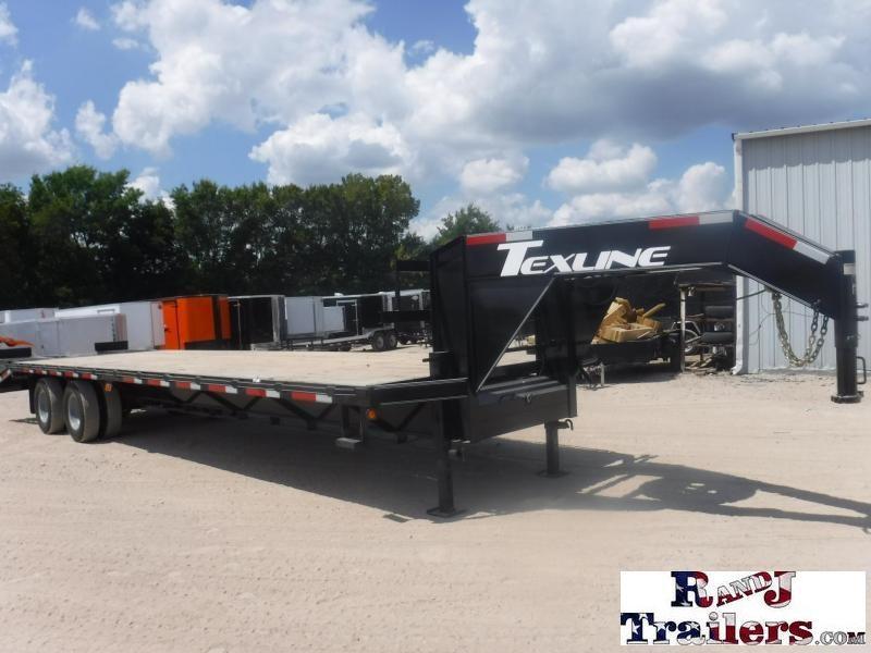 2018 TexLine 102 X 32 Gooseneck Dual Tandem Equipment Trailer