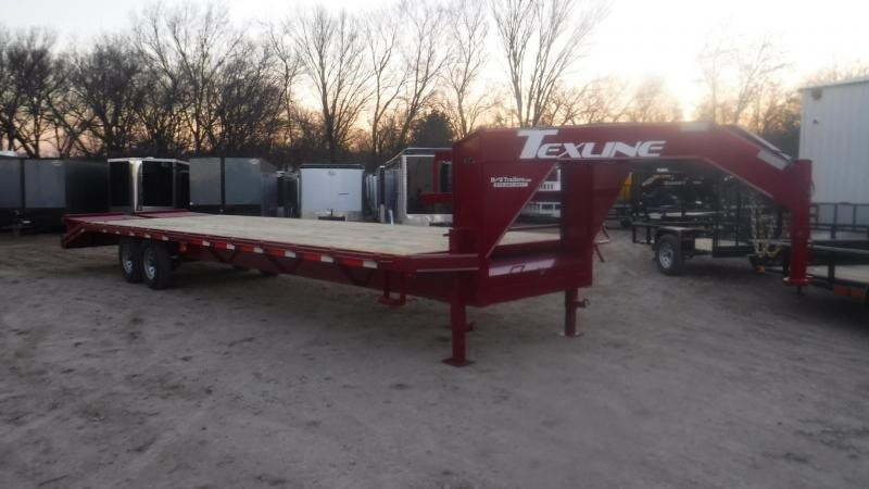 2019 TexLine 102 x 32 Gooseneck Equipment Trailer