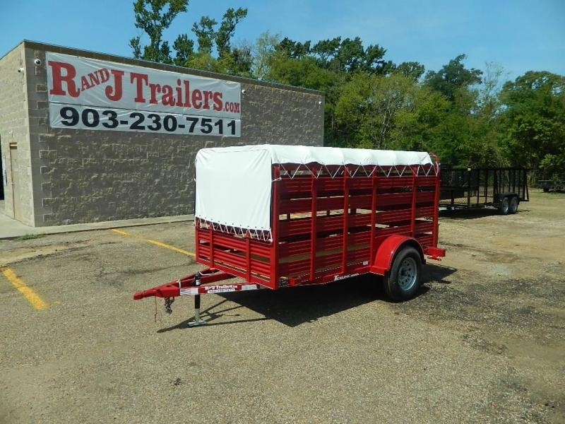 2018 TexLine 5 x 10 Mini Stock Livestock Trailer