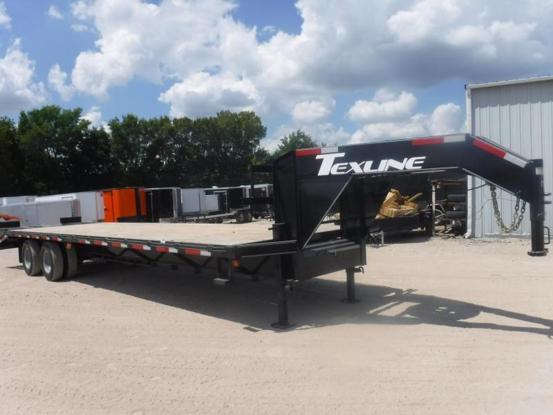 2019 TexLine 102 x 32 Gooseneck Tandem Dual Equipment Trailer