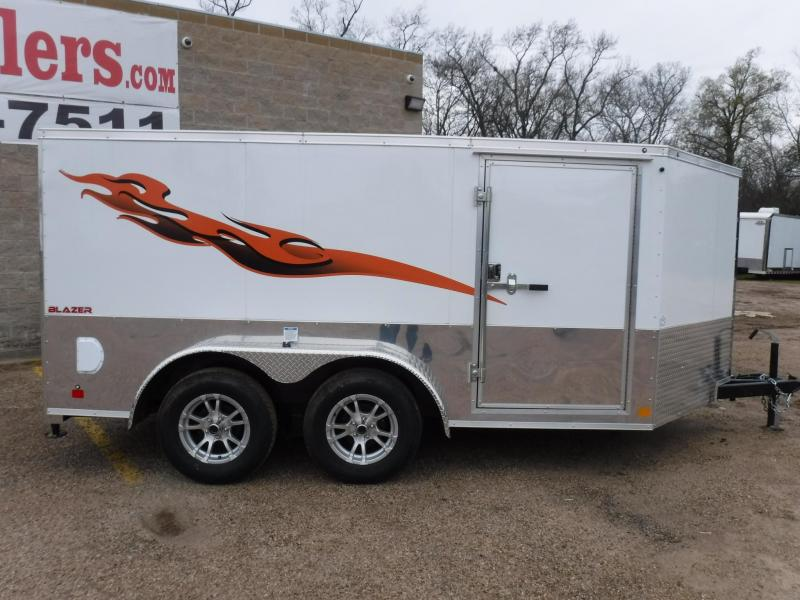 2019 Cargo Mate 7 x 12 Blazer Low Hauler Motorcycle Trailer