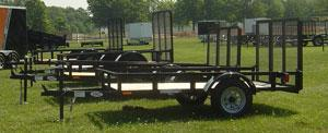 American Mfg Single Axle Lowside 3.5K Utility Trailer