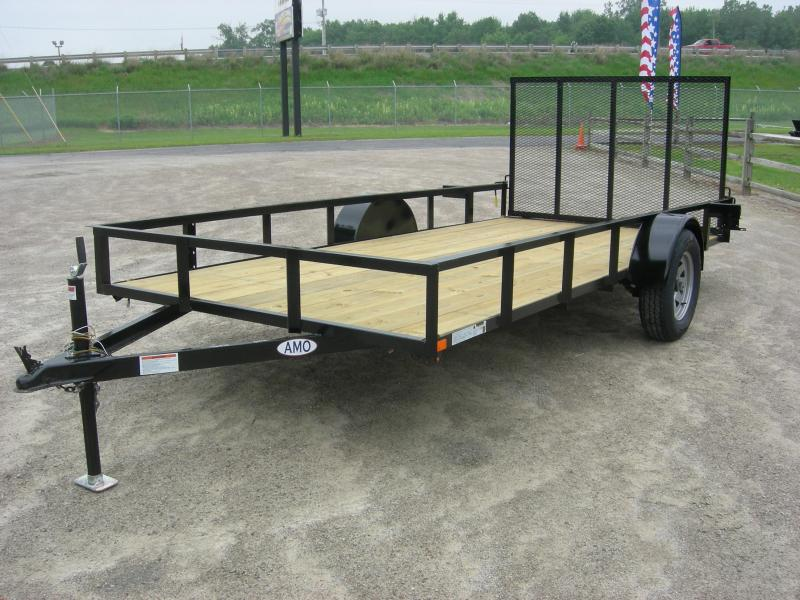 2019 American Manufacturing Operations (AMO) US76x14LS Utility Trailer